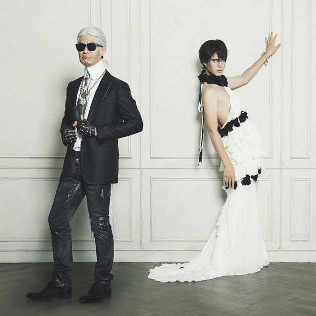 Homage to Karl Lagerfeld